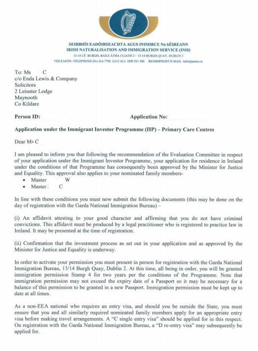 捷报!恭祝上海蔡女士喜获新西兰投资2类原则批准信!